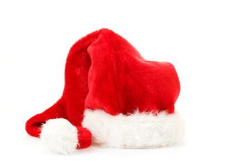 red santa hat on white background