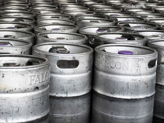 kegs with beer
