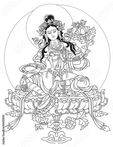 Green tara, mantra, scripture, protection png image and clipart.