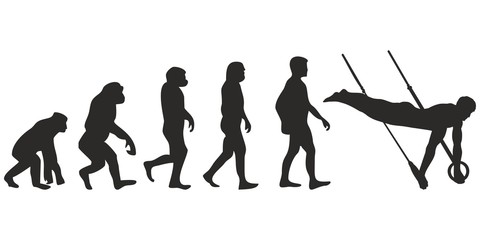 Vom Affen zum Turner (Menschen)