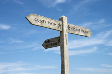 A Direction Sign for the Coast Path.
