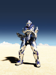 Space Marine in Metallic Armour