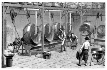 SugarAlmond Machine - Fabrication de Dragees_19th century