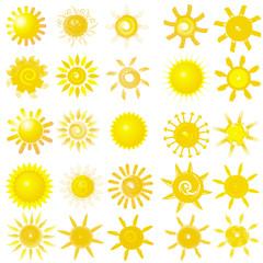 Set mit 25 Sonnen