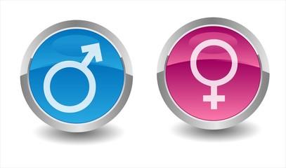 Obraz Woman & Man Symbol - fototapety do salonu