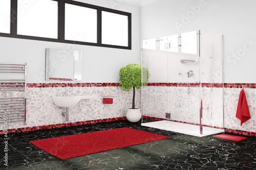 Badezimmer Mit Farbkonzept