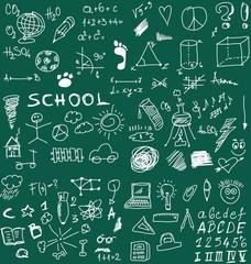 School Doodle texture