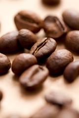 Kaffebohnen im Detail