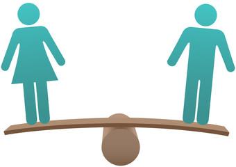 Equal male female sex equality balance