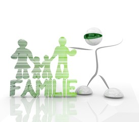 virtual family in the future 3d character