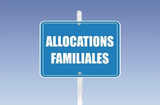 panneau allocations familiales