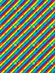 abstract seamless pattern with letters and numbers