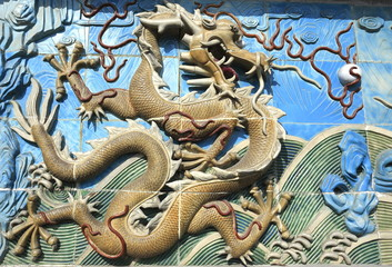Chinese dragon of ancient ceramics
