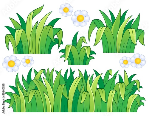 """Leaves And Grass Theme Image 1"" Stock Image And Royalty"