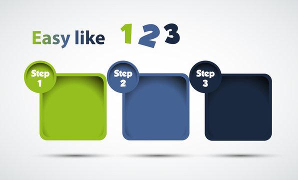 Design progress step, Options Banner, Vector illustration