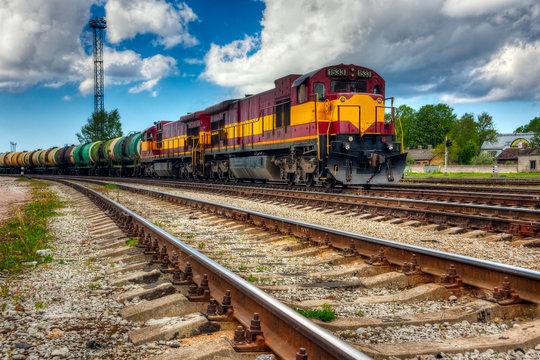 Long freight train