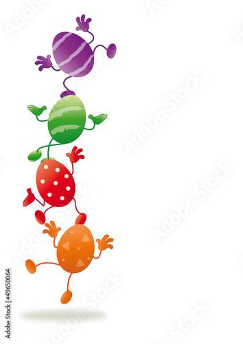 Ostereier Einladung Ostern Werbeflache Hochformat Stockfotos