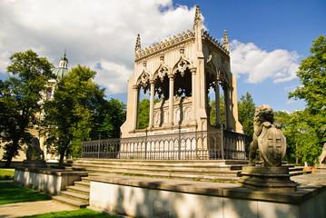 Potocki mausoleum in park - Wilanow palace area, Warsaw, Poland