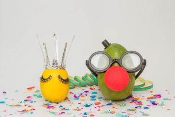 Früchte feiern Karneval