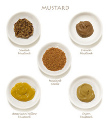 Mustards Collection Isolated