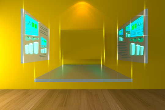 Yellow conference room