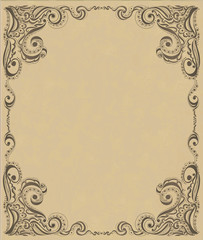 Template frame design for card