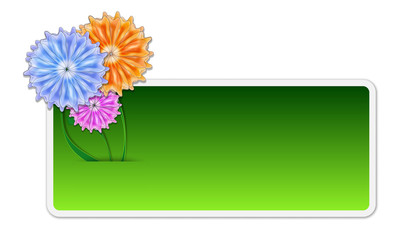text box with flowers