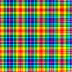 Abstract rainbow checkered geometric pattern