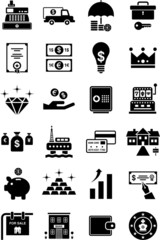Money and finance icons