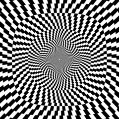 Tuinposter Psychedelic Vector illustration of optical illusion background