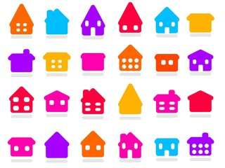 Home icons - vector symbol collection