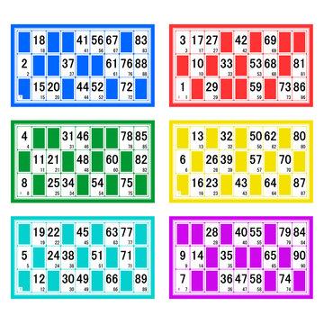 Série de cartes de loto