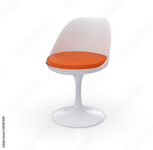Retro design stuhl orange wei stockfotos und for Design stuhl orange