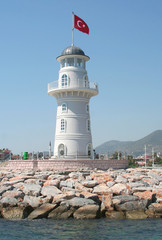 Alanya Lighthouse from The Sea