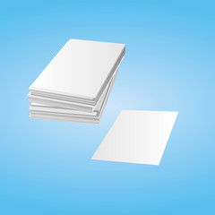 Stack of white paper, isolated