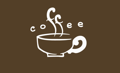 Coffee with text steam