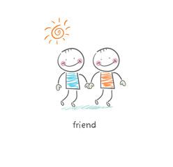 Friends. Illustration.