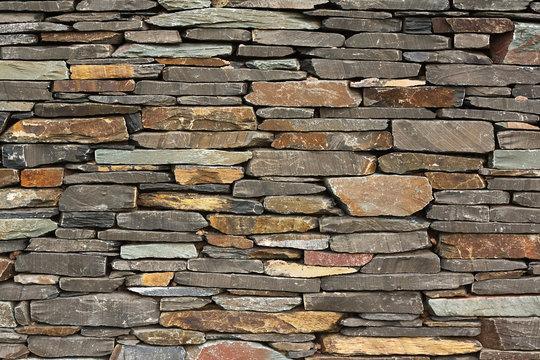 new build flush dry stone wall