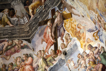 Florence - Duomo .The Last Judgement. Inside the cupola