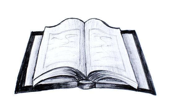 livre cahier ouvert