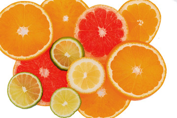 Printed roller blinds Slices of fruit Orangenscheiben