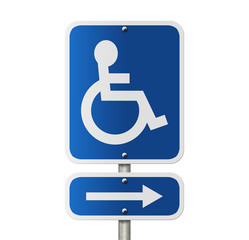 Handicap Parking Direction Sign