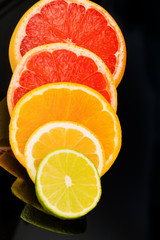 Photo sur Toile Tranches de fruits Orangenscheiben