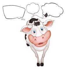 A cow with empty callouts