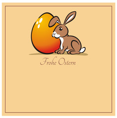 Easter Bunny Egg Frohe Ostern