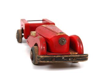 Cadres-photo bureau Voitures enfants old red car toy