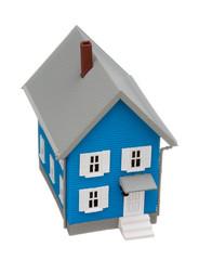 Model house isolated on white