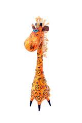 игрушка жираф на белом фоне