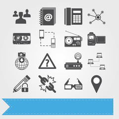 Social media related vector icons for your design