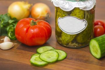 Warzywa w domowej spiżarni